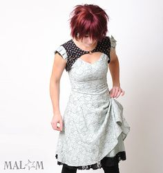 Sage green floral dress  Vintage embroidered green and by Malam, €235.00