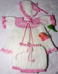 Baby Girl Crochet Outfit     RM207 by Crazee4BabyBoutique on Etsy, $45.00