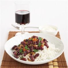 Quick chilli with rice
