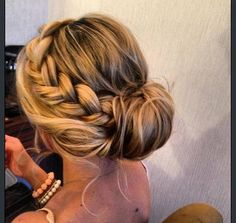 Side braided updo
