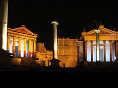 """Part of the set of the HBO series """"Rome"""" in Cinecittà."""