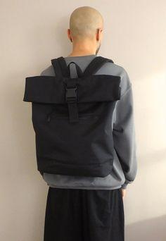 New Minimalist Slimline Backpack in Black   WWYF   ASOS Marketplace