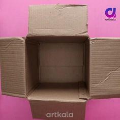 Cardboard Box Storage, Cardboard Organizer, Diy Cardboard Furniture, Diy Storage Boxes, Cardboard Box Crafts, Diy Box Organizer, Shoebox Crafts, Diy Crafts Hacks, Diy Home Crafts