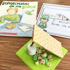 Literacy Snack Idea Leprechaun + Free Printable - Primary Playground, It's almost St. Patrick's Day and there is a leprechaun on the loose in our classroom! We're excited to be doing some fun activities for St. Patrick's. Preschool Snacks, Preschool Books, Kindergarten Literacy, Early Literacy, Preschool Activities, Rainbow Activities, Elderly Activities, Spring Activities, Holiday Activities