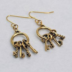 Hey, I found this really awesome Etsy listing at https://www.etsy.com/listing/235627999/gold-key-ring-earrings-gold-key-earrings