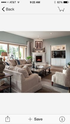 Furniture Arrangement With Corner Fireplace And Love Wall Color