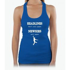 Newsies Sell Papes Womens Tank Top
