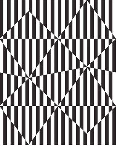 Diamond Stripes - Black, from Australian studio The March Collective