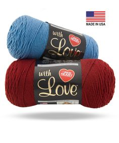 Ultra soft, premium acrylic yarn perfect for throws, garments and accessories. Available in a beautiful range of mixable multis and no-dye-lot solids. Made for you, With Love, in the USA.