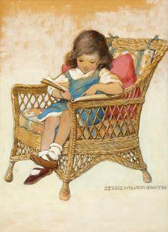 "****NEW****Miniature Dollhouse SWEET Jesse Wilcox Smith /""girl with tulips/"" sign"