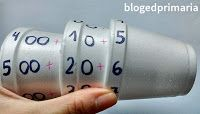 Vasos numerados. Valor posicional. Componer y descomponer números. Guided Reading, Math, Blog, Delaware, Preschool Science, Mathematics, Math Resources, Blogging, Early Math