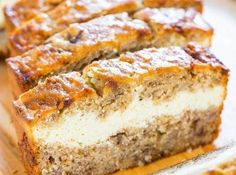 I love Cream Cheese on Banana nut bread.  Imagine combing the two!!