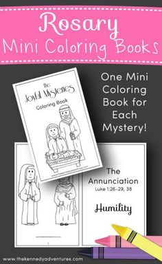Are you looking for a hands on way to say the Rosary with your children? Need something to keep little hands busy during Mass or your Morning Time?   In our family, we love using these Rosary coloring books. We print out multiple copies so that everyone can have one of their very own.    While we are busy reading our favorite Catholic picture books, the children can color some of their favorite mysteries.   These are perfect for Catholic families, religious education classes, Catholic…