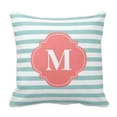 Mint and Coral Stripes Monogram Throw Pillows online after you search a lot for where to buyReview          Mint and Coral Stripes Monogram Throw Pillows Review on the This website by click the button below...