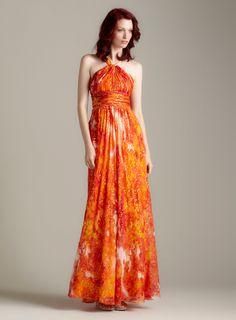 Twist Halter Long Dress