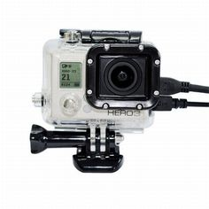 Skeleton Protective Housing  with Lens for Gopro hero 3+3, Open Side for FPV, without cable, Transparent, Red