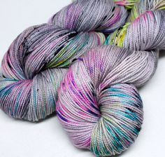 I'm new to knitting and love it! I'd love some of this yarn. So pretty. Hand Dyed Speckled Sock Yarn  SW Sock 80/20  by SpunRightRound