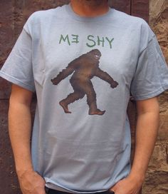 Bigfoot is shy! Cute shirt! ($18)