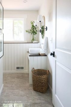 See our downstairs bathroom reveal and how we transformed this space into a functioning bathroom! I've included all of the room sources as well.