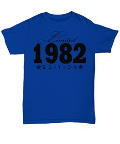 1946 Limited Edition any year personalized Birthday Party Birthday Shirts, Trending Outfits, Prints, Mens Tops, Stuff To Buy, Usa, Party, Parties, U.s. States
