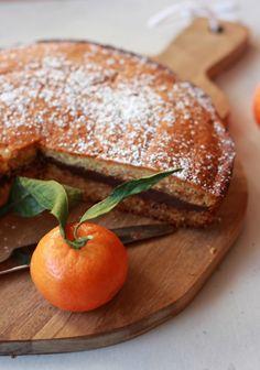 Gâteau aux clémentines et ganache au chocolat -