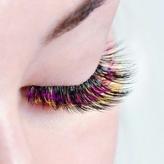 Stereo eyelash extensions I love these so much.