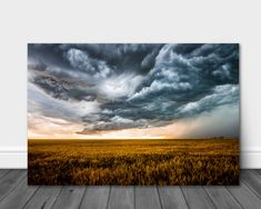 Storm Photography, Rolling Thunder, Wheat Fields, Storm Clouds, Aluminum Metal, Spring Day, Landscape Photographers, Print Pictures, Landscape Photos