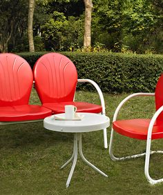 Look at this Red Griffith Loveseat & Chair on #zulily today!