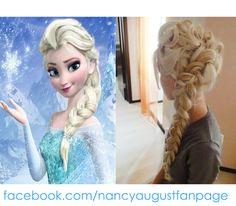 #frozen elsa hairstyle