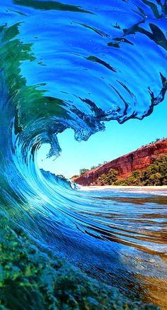 beautiful blue water....