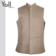 Waistcoats are a favorite amongst men. Wear this with an ethnic wear or skinny jeans. This waist coat is sure to grab eyeballs.