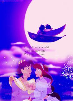 Aladdin and Jasmine: Best Disney couple ever!!!!!!!!!!! <3