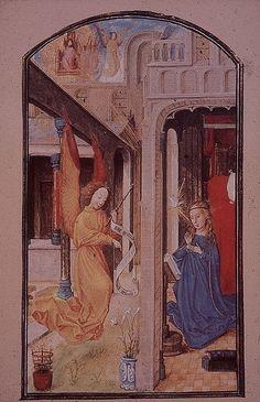 Annonciation dans le livre d'heures de Marie de Bourgogne (1477)