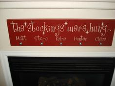 I heart this stocking holder