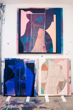 Artist Kathryn Macnaughton On Finding Inspiration In the Female Body: Walking into Kathryn Macnaughton's studio you can instantly feel that special energy that always seems prevalent in creative spaces. -- Abstract home decor | coveteur.com