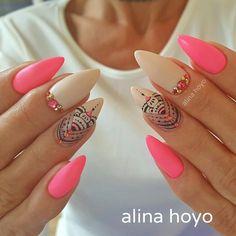 Beautiful matte nails, white and pink - Miladies.net