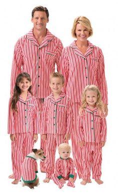 Candy Cane Fleece Matching Family Pajamas Main Image Family Matching Pjs 474668189