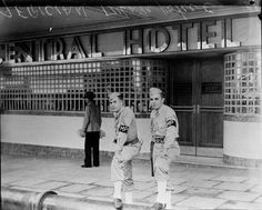American military police outside the Central Hotel, Brisbane, Queensland, 1942. State Library Queensland via Flickr.