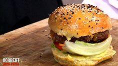 """Burger / recette """"Norbert commis d'office"""" / Pour la recette du petit pain"""