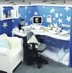 12 Coolest Pimped Cubicles - Oddee.com (decorated cubicle)