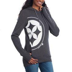 46535001 Show details for Pittsburgh Steelers '47 Brand Women's Side Point Fleece  Hoodie Fleece Hoodie,