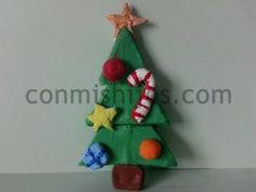 Árbol de Navidad de pasta de sal. Manualidades de Navidad