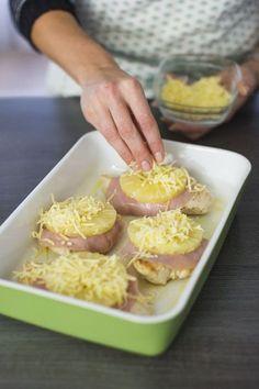 Kip met ham en ananas uit de oven