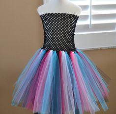 Casual Custom Made Two Color Basic Tutu Dress for children All by 1583Designs kids girls birthday monster high any colors or length tulle party portraits photo prop wedding