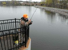 Jerry Hoffman of Park Ridge tries his luck fishing at the Mill Pond in Park Ridge.