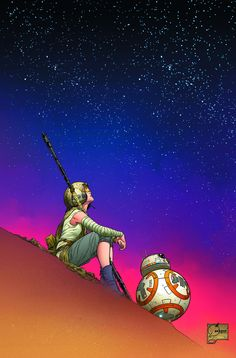 Cover art for 'Star Wars: The Force Awakens' by Joe Quesada and Richard Isanove published by Marvel Comics. Star Wars Meme, Star Wars Film, Star Wars Fan Art, Finn Star Wars, Rey Star Wars, Star Trek, Chewbacca, War Comics, Marvel Comics