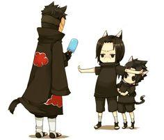 Obito, Itachi et Sasuke