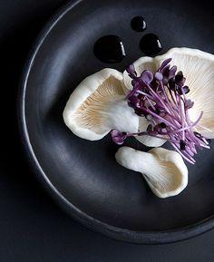♂ Healthy eating food purple white black