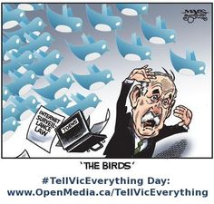 Remember this Canada? Do you have a favorite Vic Toews meme for #TellVicEverything day? Check it out: http://openmedia.ca/tellviceverything. Join us on Twitter: https://twitter.com/search?q=%23TellVicEverything=hash