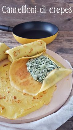 Crepes, Raw Food Recipes, Meat Recipes, Cooking Recipes, Cannelloni Ricotta, Crepe Recipes, Sweet And Salty, Going Vegan, Love Food